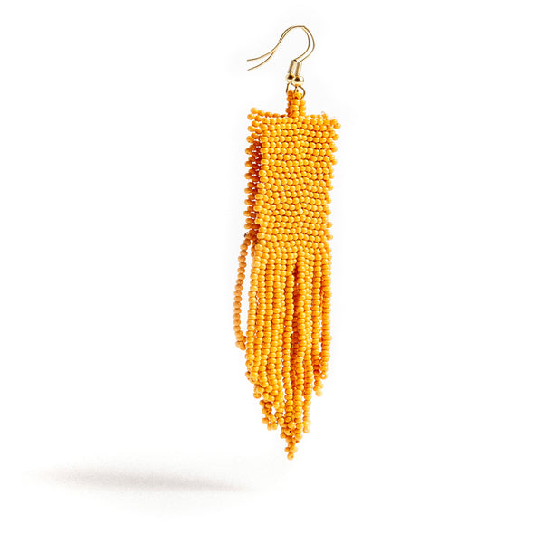 Mustard Seed Bead Earrings