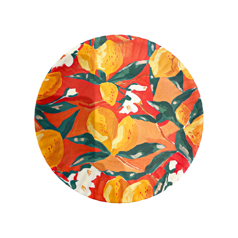 "Orange Gingham Fruit ""Paper"" Plate"