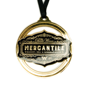 Black and Gold Enamel Metal Ornament - The Pioneer Woman Mercantile