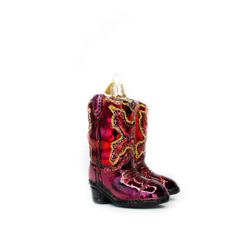 Red Cowboy Boots Ornament - The Pioneer Woman Mercantile