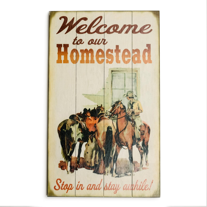 """Welcome to our Homestead"" Wood Sign"