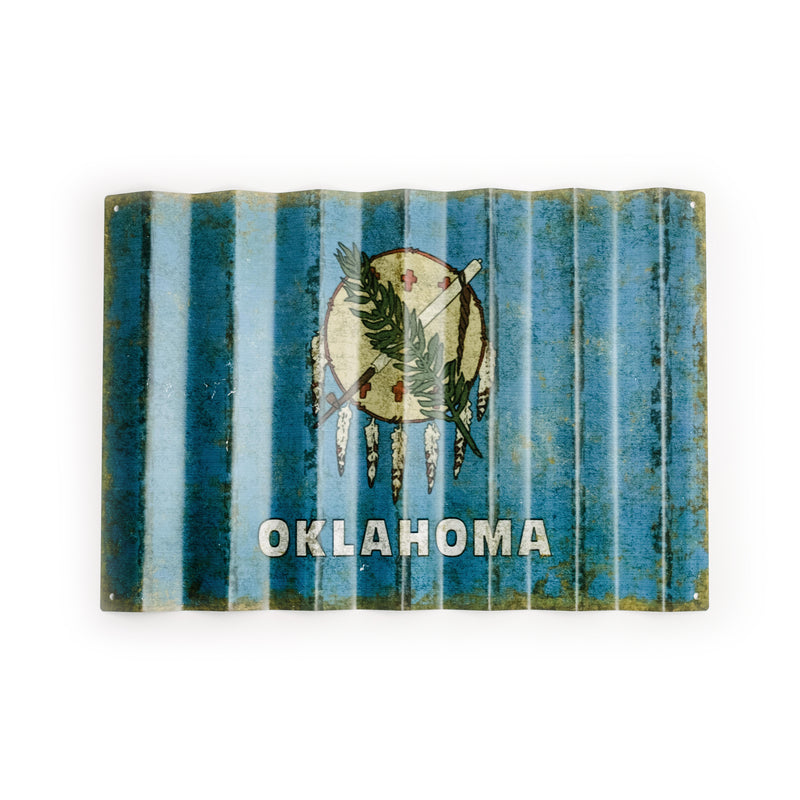 Oklahoma Corrugated Metal Sign