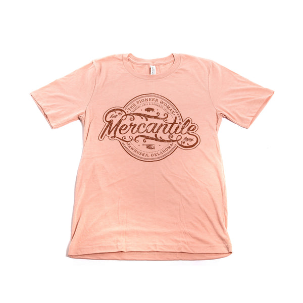 Peach Tri-blend Oval Merc Logo Shirt - The Pioneer Woman Mercantile