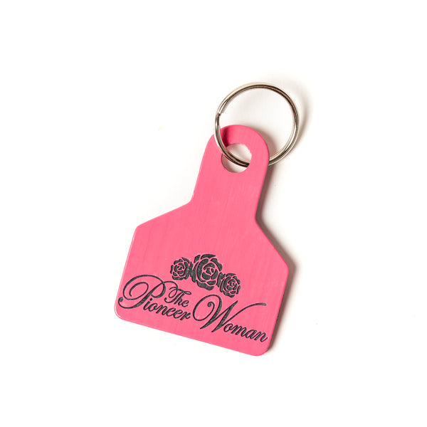 Pink Pioneer Woman Keychain
