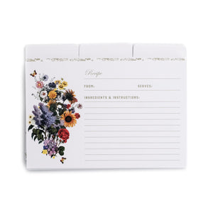 15 Assorted Recipe Cards & 5 Dividers