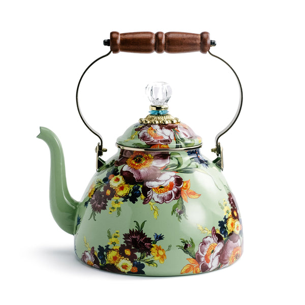Green Mackenzie-Childs Flower Market Kettle
