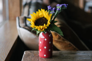 Polka Dot Milk Bottle - The Pioneer Woman Mercantile