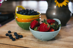 Orange Round Stoneware Berry Bowl - The Pioneer Woman Mercantile