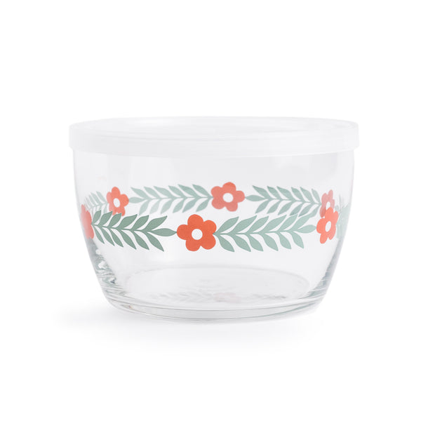 Food Storage Bowl: Red Daisy