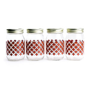Red Plaid Storage Jar - The Pioneer Woman Mercantile