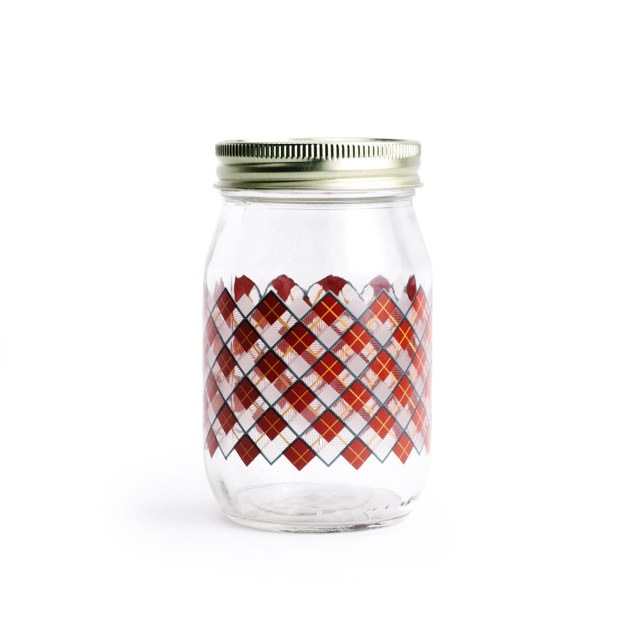 ... Red Plaid Storage Jar   The Pioneer Woman Mercantile ...