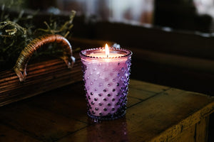 Watermelon Basil Hobnail Candle - The Pioneer Woman Mercantile