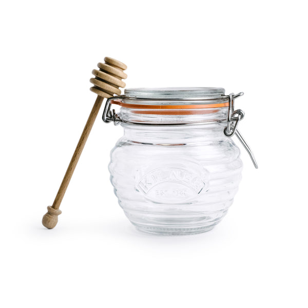 Honey Pot w/ Wooden Dipper - The Pioneer Woman Mercantile
