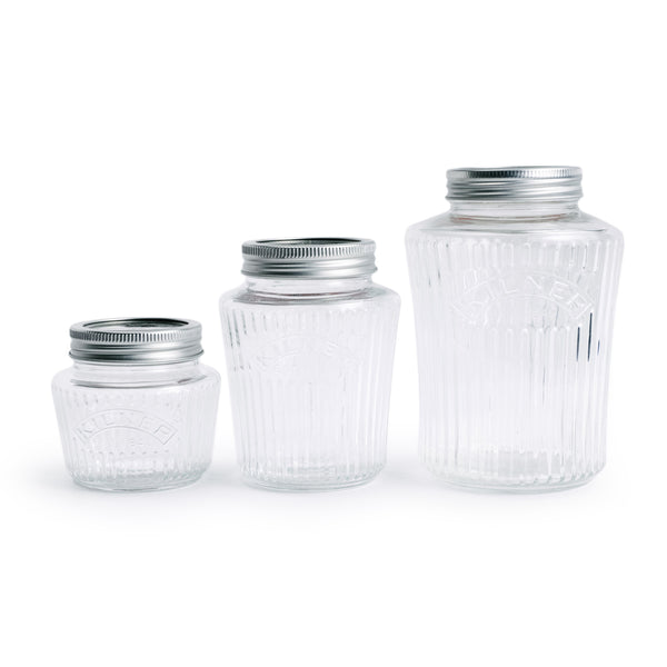 Ribbed Preserve Jars