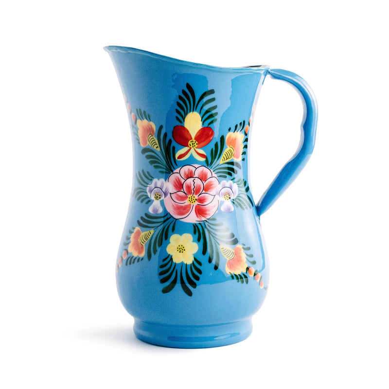 Enameled Floral Jug - The Pioneer Woman Mercantile