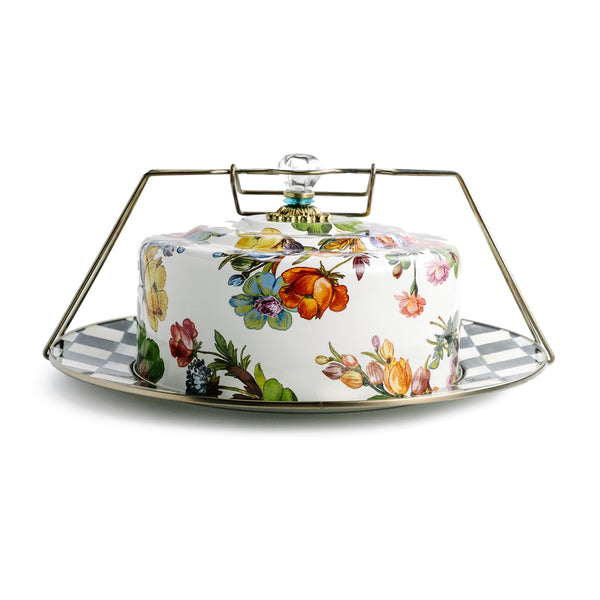 Mackenzie-Childs Floral Cake Carrier