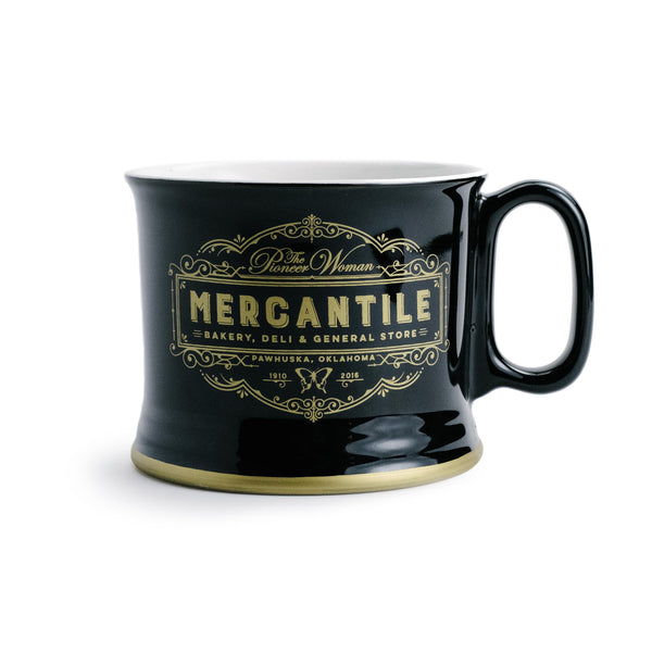 Black and Gold Merc Mug - The Pioneer Woman Mercantile