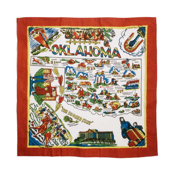Oklahoma Map Kitchen Towel