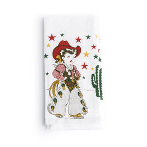 Little Cowgirl Kitchen Towel