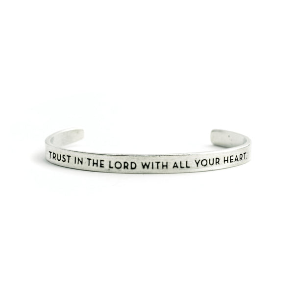 """Trust in the Lord With All Your Heart"" Cuff - The Pioneer Woman Mercantile"