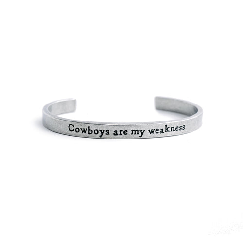 """Cowboys Are My Weakness"" Cuff"