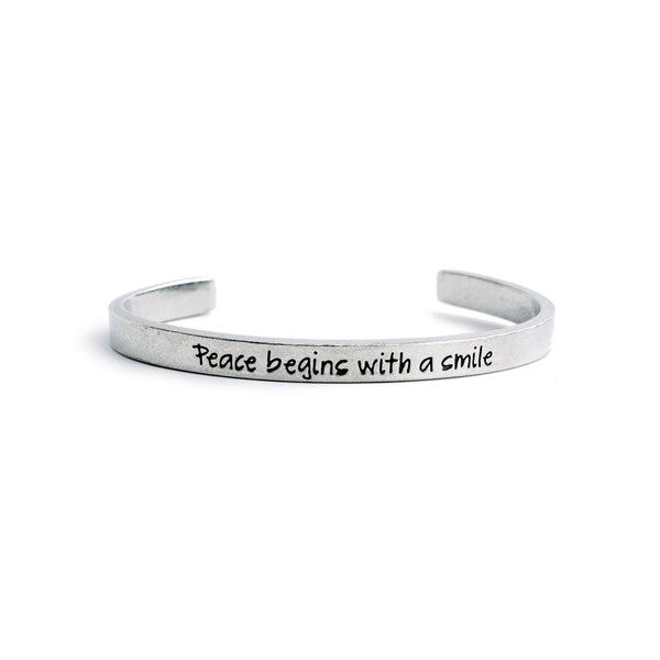 """Peace Begins with a Smile"" Cuff - The Pioneer Woman Mercantile"