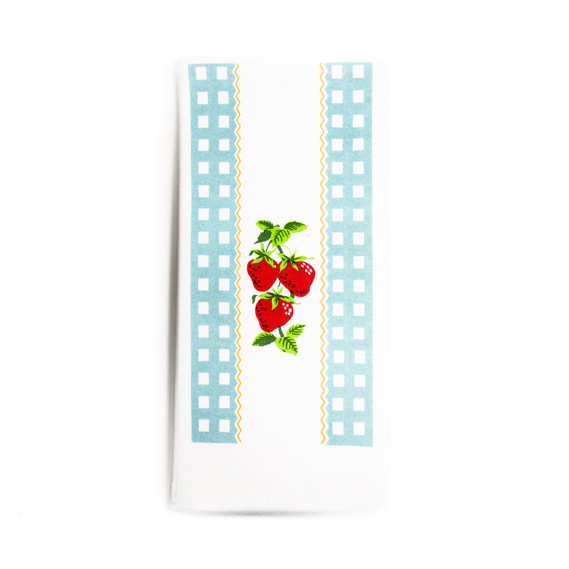 Blue Strawberry Time Kitchen Towel - The Pioneer Woman Mercantile