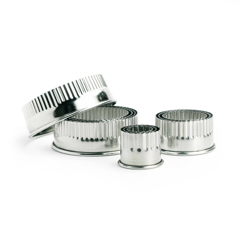 Fluted Round Cookie Cutter Set