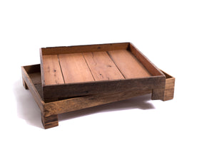 Rectangular Reclaimed Wood Footed Tray - The Pioneer Woman Mercantile