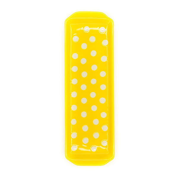 Polka Dot Stoneware Yellow Kitchen Tray