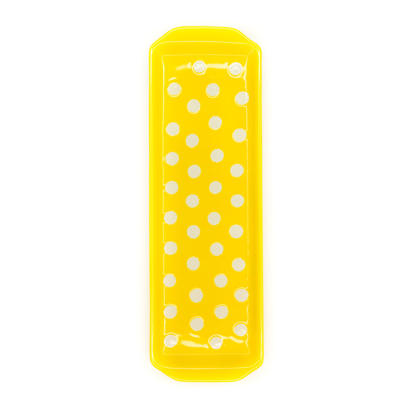 Polka Dot Stoneware Yellow Kitchen Tray - The Pioneer Woman Mercantile