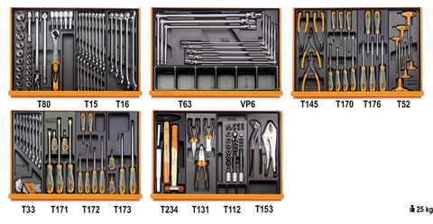 5904VG/5T - Beta Tools 153 Piece Auto Repair Tool Kit