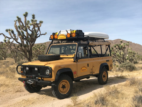 Vehicles Available - 1988 Defender 110 Camel Trophy Support Tribute