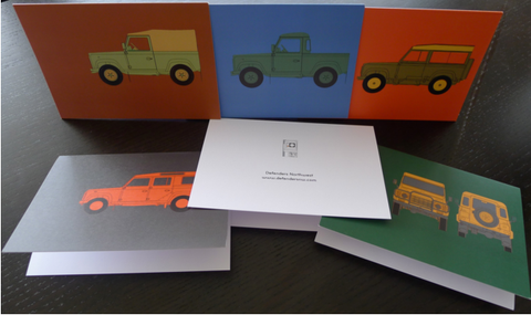 Defender Note Cards