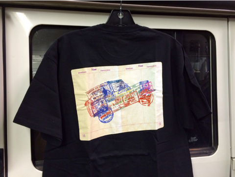 T-shirt, Defender Passport Stamps 2013