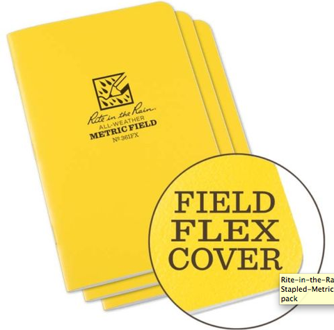 Rite in the Rain Stapled Notebook Field Flex Cover - 3 Pack