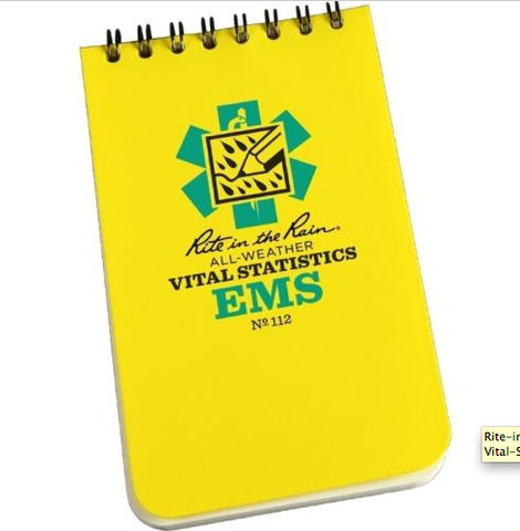 "Rite in the Rain 112 All-Weather EMS Vital Stats Notebook, 3"" x 5"""