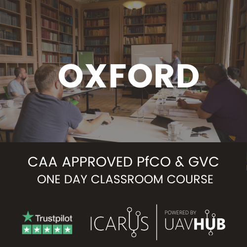 caa approved drone course for pfco and gvc from uavhub icarus