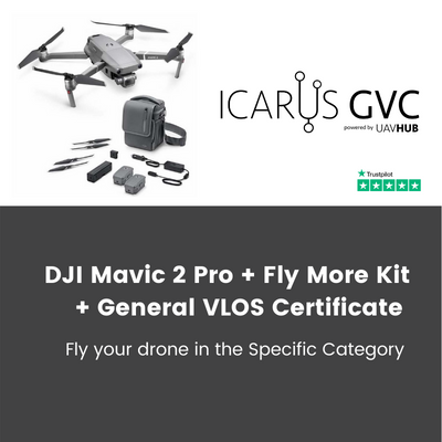 dji mavic 2 pro with fly more kit and gvc drone course