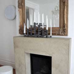 fireplace candleholder alp interior