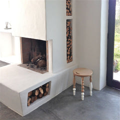 alp design interior stool fireplace