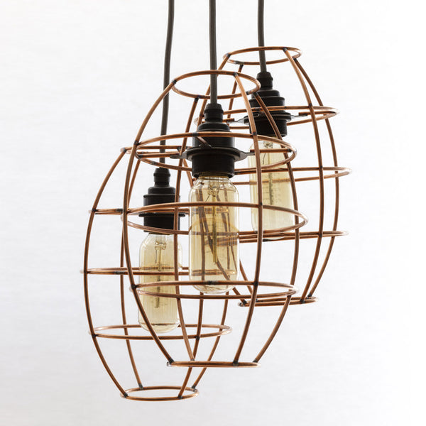 copper wire light