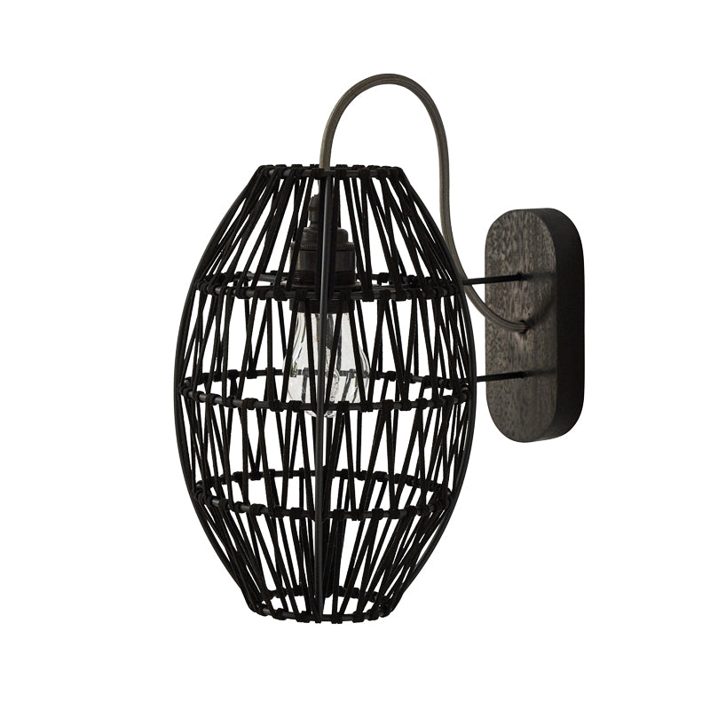 alp wall light 310 with black weave