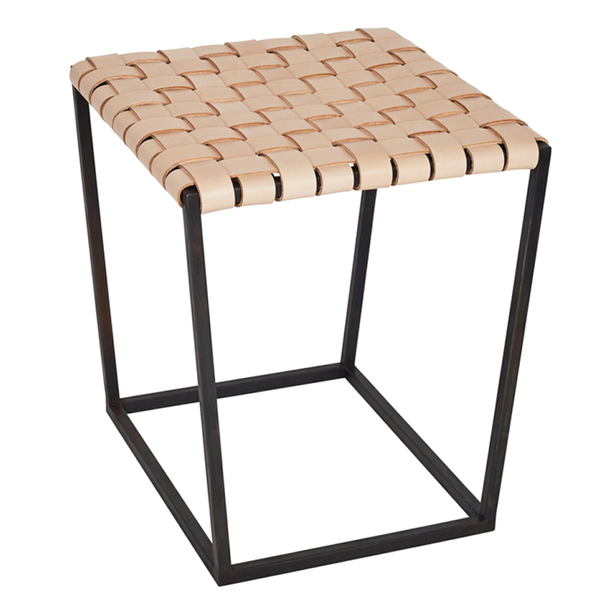 alp stool/bench 104 tan or black leather