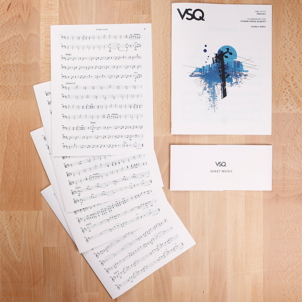 "Owl City's ""Fireflies"" as Arranged for VSQ (Sheet Music)"