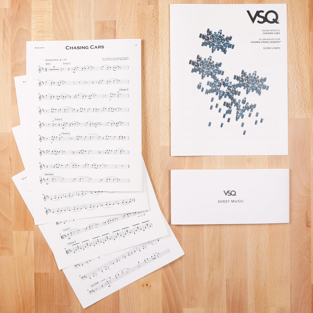 "Snow Patrol's ""Chasing Cars"" as Arranged for VSQ (Sheet Music)"