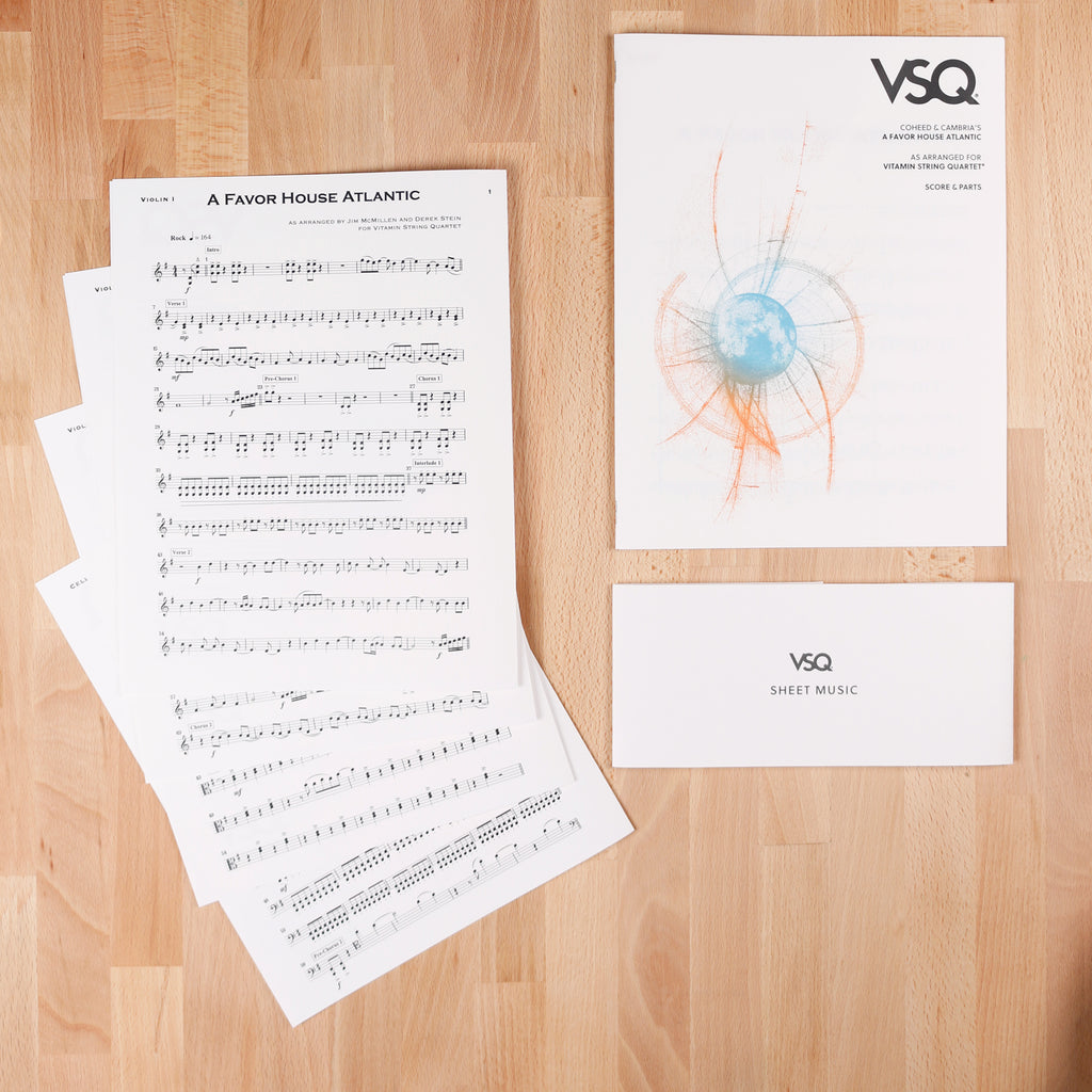 "Coheed & Cambria's ""A Favor House Atlantic"" as Arranged for VSQ (Sheet Music)"