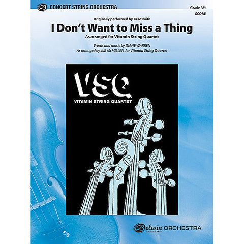 "Aerosmith's ""I Don't Want to Miss a Thing"" as Arranged for String Orchestra"
