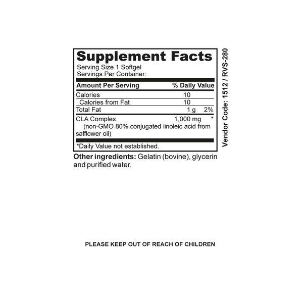 NutraBlast CLA Complex Supplement Facts