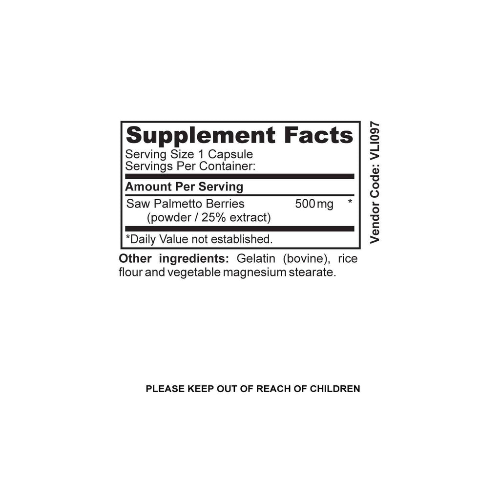 NUTRABLAST SAW PALMETTO BERRIES 500MG EXTRACT COMPLEX